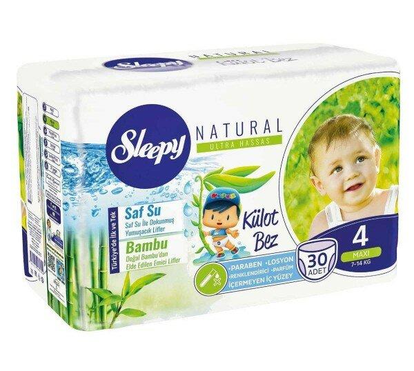 Sleepy Natural Külot Bez 4 Beden Bebek Bezi Resimleri